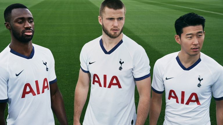 Tottenham's Nike home kit is minimalist with a V-neck collar