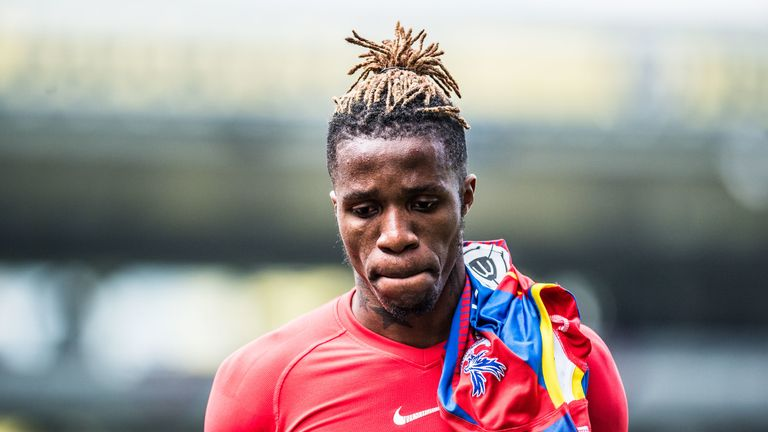 Wilfried Zaha has attracted interest from Arsenal and Everton