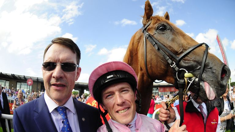 Connections celebrate Sovereign's Irish Derby victory