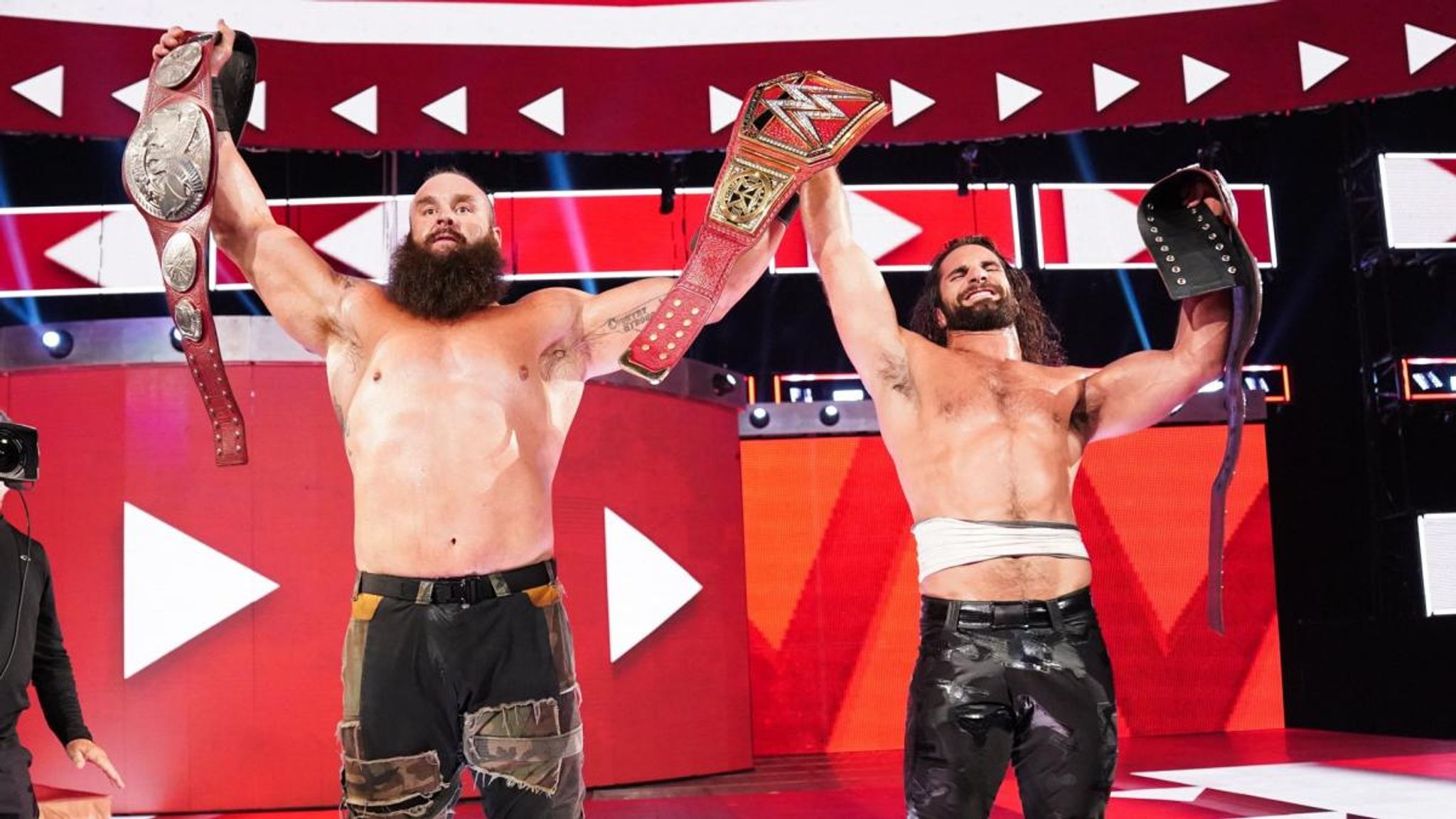 WWE Raw: Rollins and Strowman win tag titles