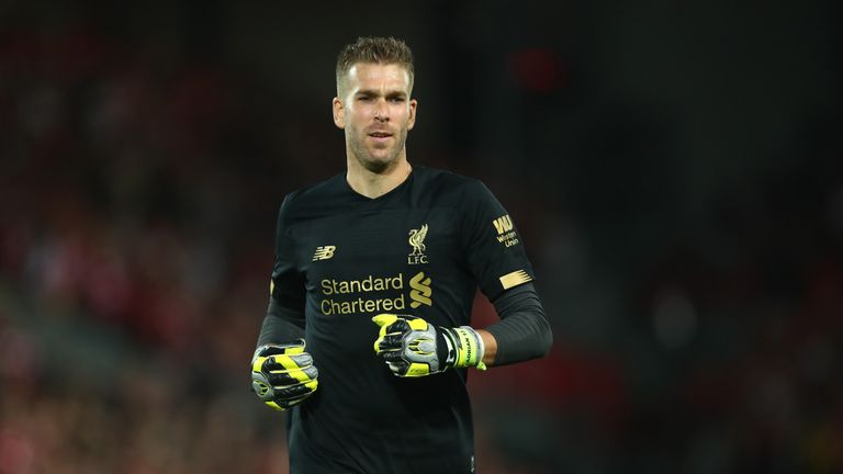 Adrian is set to start for Liverpool due to Alisson's injury