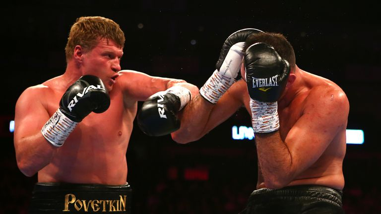 Alexander Povetkin defeated Hughie Fury on points last weekend