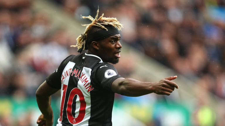 Allan Saint-Maximin will face a spell on the sidelines for Newcastle