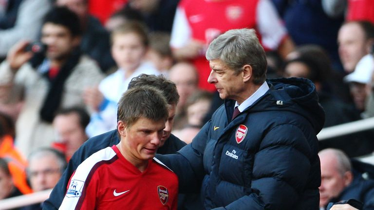 Arshavin was signed for Arsenal by Arsene Wenger, and scored 31 goals in 145 games for the club
