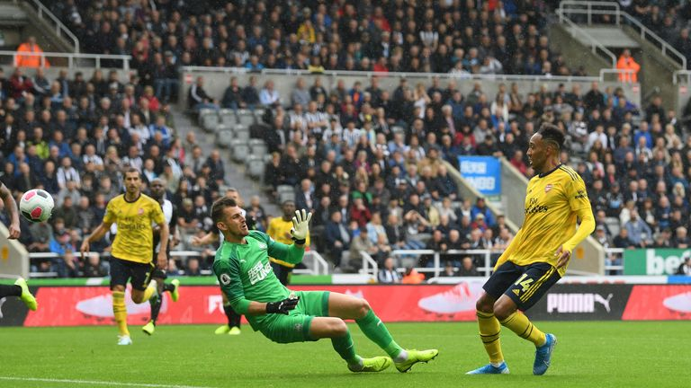 Arsenal edged out Newcastle 1-0 at St James' Park thanks to a Pierre-Emerick Aubameyang strike in the second half
