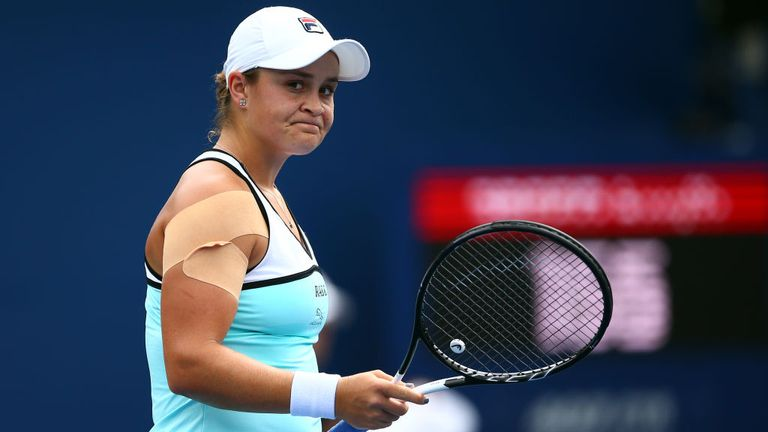 The loss puts Ashleigh Barty's world No 1 ranking in jeopardy
