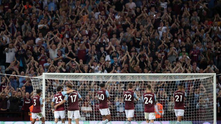 Aston Villa were buoyed by the backing of a partisan crowd at Villa Park