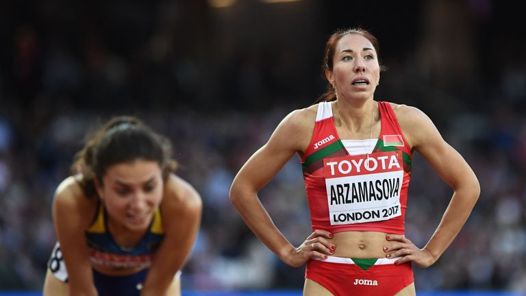 Arzamasova won the 800 meters at the 2015 worlds in Beijing