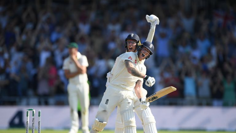 Stokes and Leach celebrate as England's stunning win at Headingley is confirmed