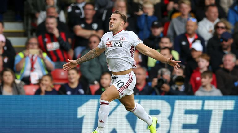 Billy Sharp scored his first Premier League goal to hand Sheffield United a point