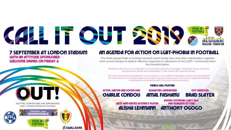 Ogogo will speak at Pride in Football's Call It Out 2019 event on Saturday