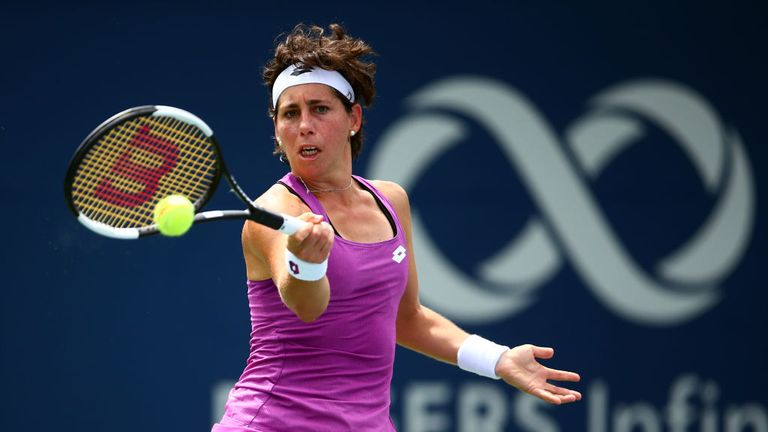 Carla Suárez Navarro struck 16 winners during her victory over Venus Williams