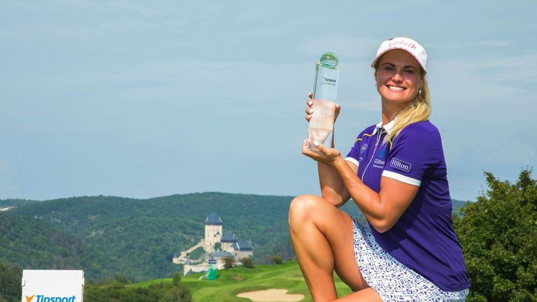 Carly Booth clinched a one-shot win at the Tipsport Czech Ladies Open