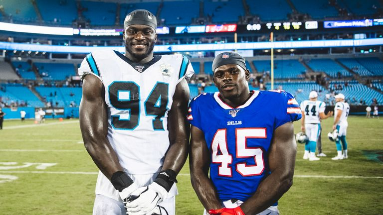 Wade is hoping to follow in the footsteps of Carolina Panthers defensive end Efe Obada (credit: Carolina Panthers)