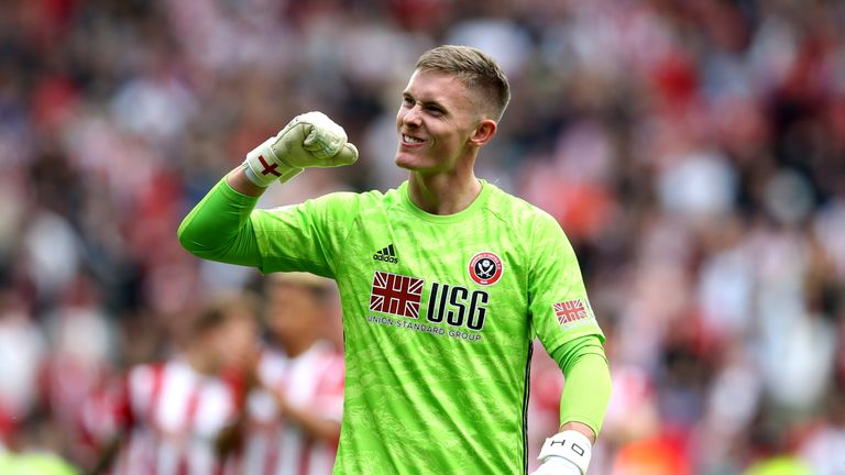 Dean Henderson is on loan at Sheffield United from Manchester United