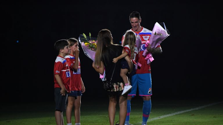 The Spaniard was given an emotional send-off by Japan's Sagan Tosu