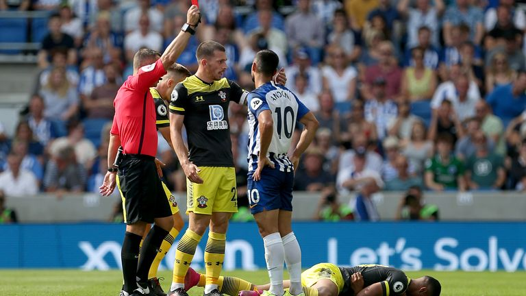 Brighton have already had two red cards this season - will a third follow at Selhurst Park?