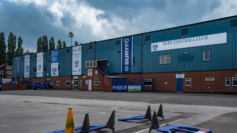 Bury were expelled from the EFL in August