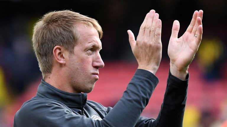 Graham Potter's Brighton team have not won in the Premier League since the opening weekend