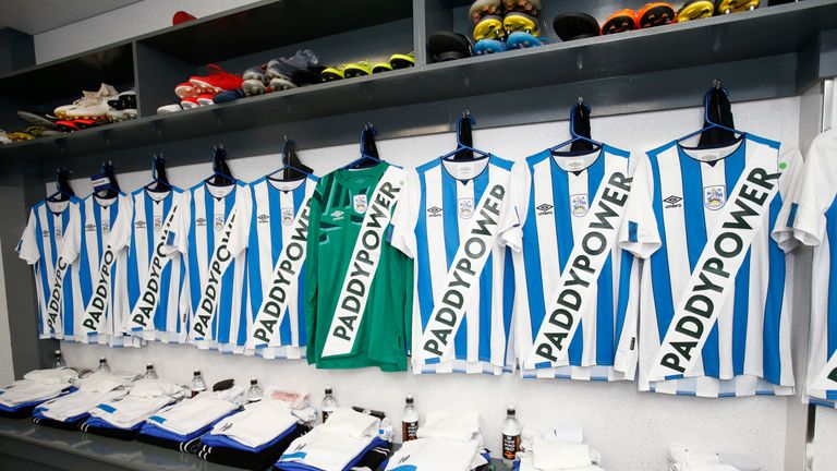 Huddersfield wore the controversial strip in a pre-season friendly against Rochdale on July 17