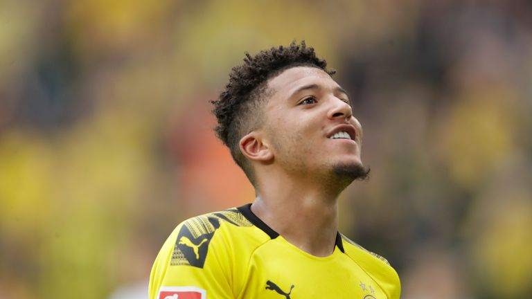 Sancho has already celebrated two goals for Dortmund from three games this season