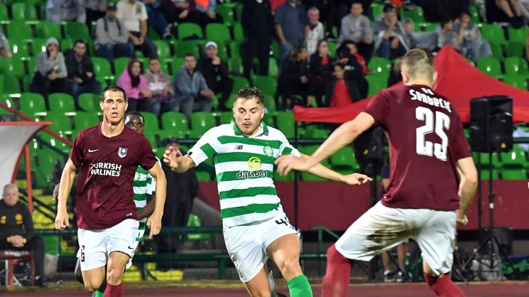 James Forrest was Celtic's goalscoring hero in Romania