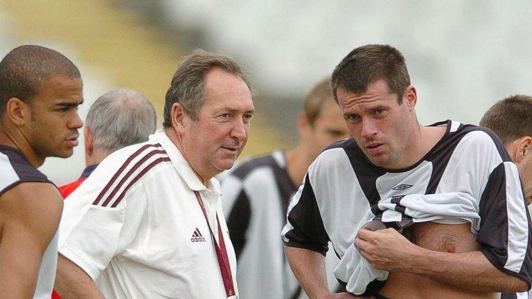 Carragher played under Gerard Houllier until 2004 at Liverpool