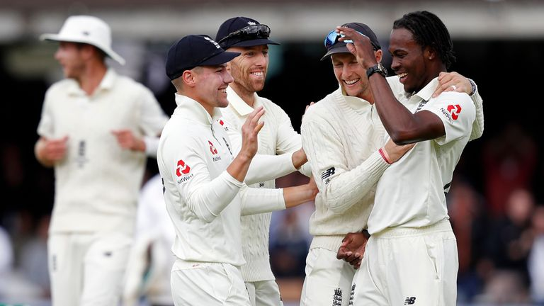 Jofra Archer (right) added express pace to England's Test attack