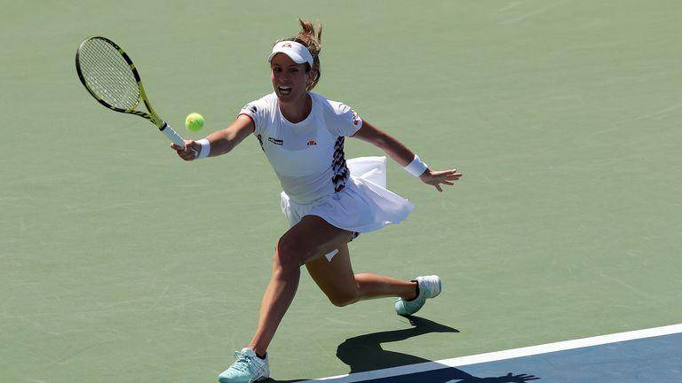 US Open tennis / Johanna Konta advances after battling three-set victory