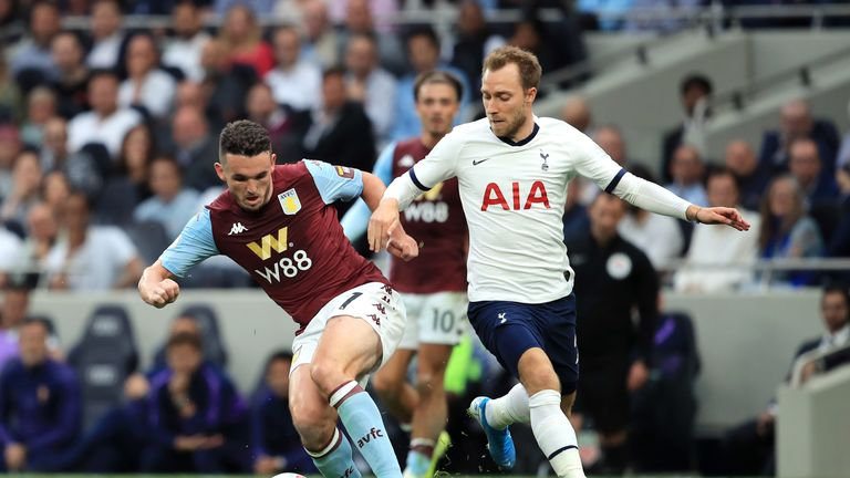 Christian Eriksen changed the game when he came on for Spurs against Aston Villa