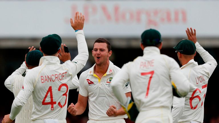 Josh Hazlewood was left out of Australia's team for the first Test victory at Edgbaston