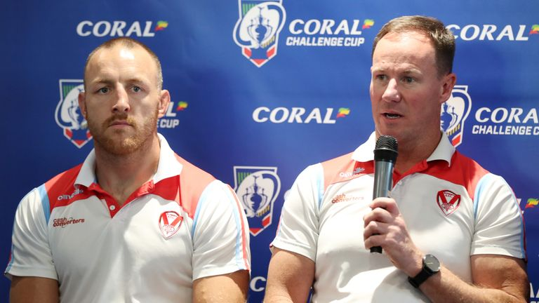 Justin Holbrook joined St Helens midway through the 2017 season