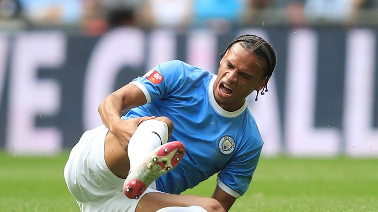 Manchester City's Leroy Sane had been linked with Bayern but he suffered a serious injury in the Community Shield