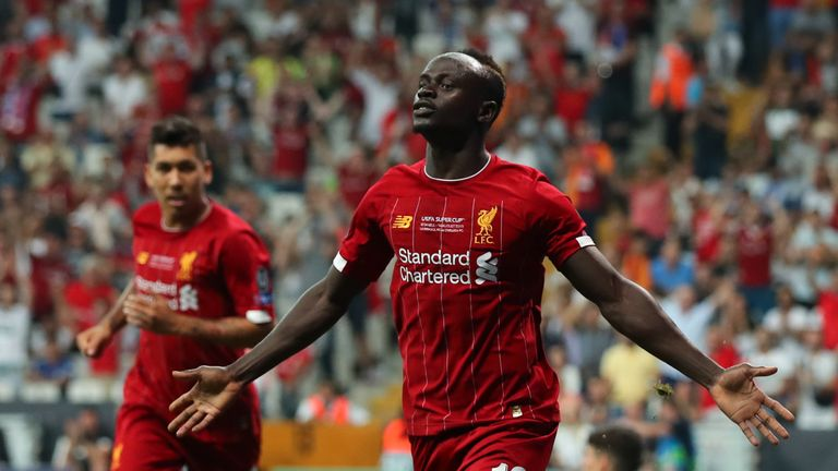Sadio Mane scored a double on his first start of the season