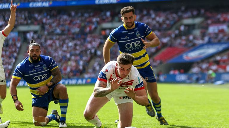 Mark Percival was one of the St Helens players to have a try disallowed