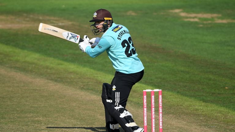 Mark Stoneman top-scored with a half-century for Surrey at Sophia Gardens