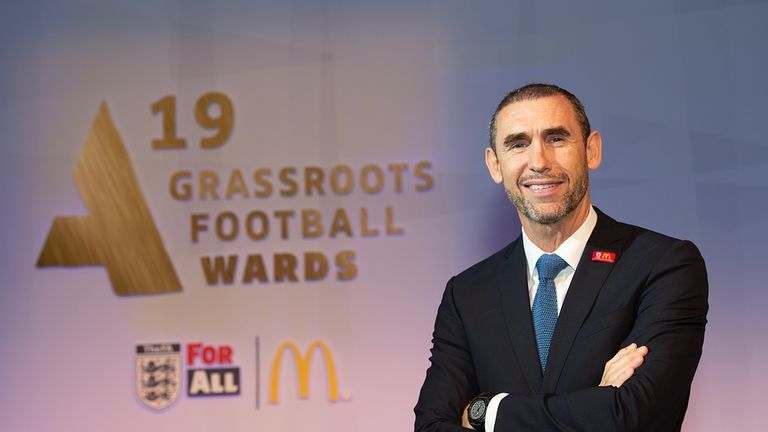 Keown pictured at the FA & McDonald's Grassroots Awards 2019