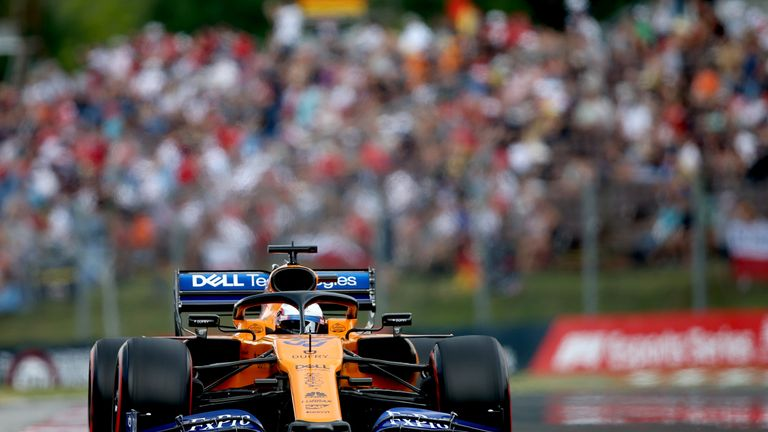 Sainz managed to hold off Pierre Gasly to retain fifth position in Hungary