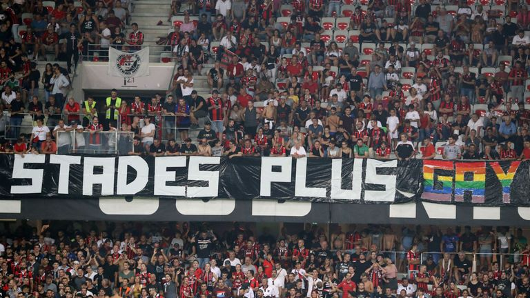 Several French league games have been halted due to homophobic chanting and banners this season
