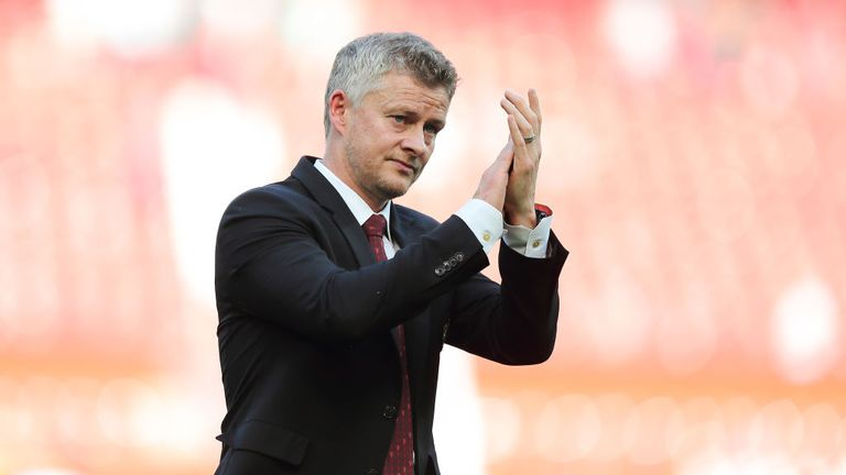 A dejected Ole Gunnar Solskjaer leaves the field after suffering defeat to Crystal Palace