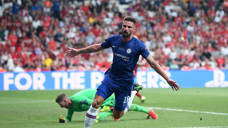 Olivier Giroud kept up his excellent record in European competition for Chelsea
