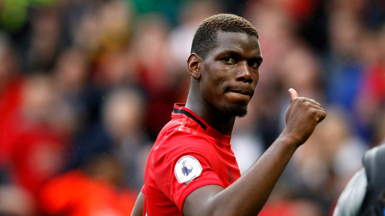 Pogba was among United's star performers on Sunday