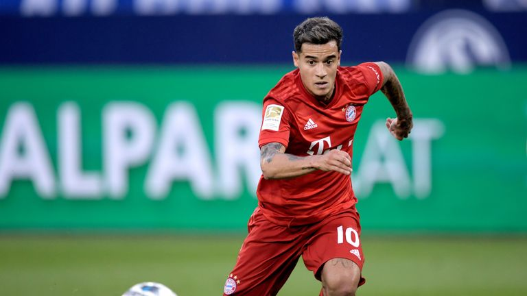 Philippe Coutinho came on for his Bayern debut