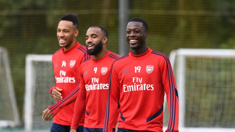 Leno praised Arsenal's newly-formed front three