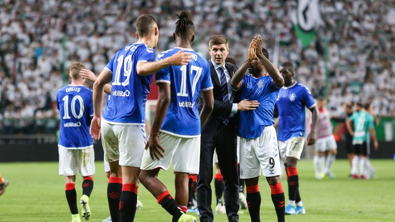 Rangers impressed in holding Legia Warsaw in Poland on Thursday