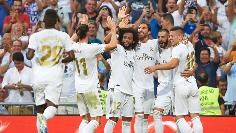 Karim Benzema's opener was soon cancelled out by Real Valladolid