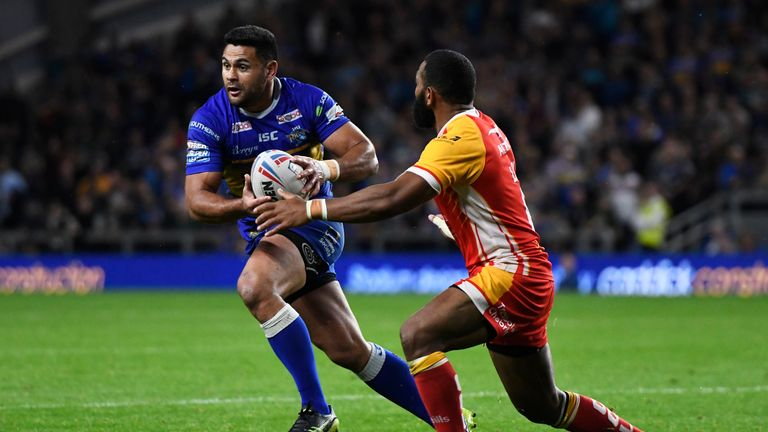 Rhyse Martin showcased his kicking and handling skills on a fine night for Leeds