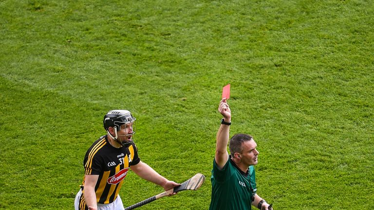 Richie Hogan was shown a red card in the All-Ireland final
