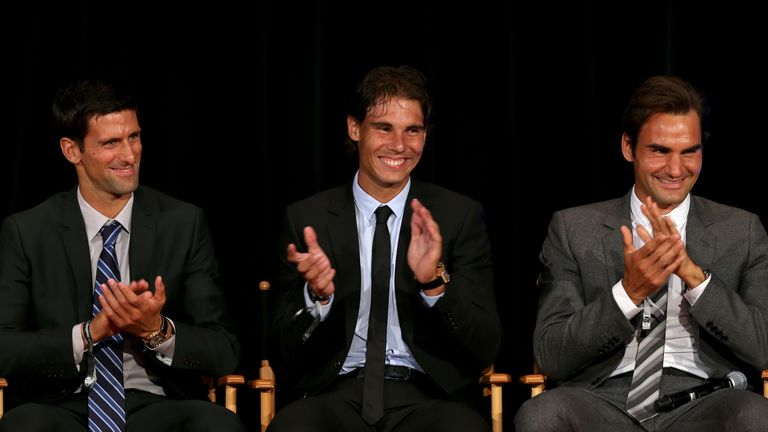 The trio have racked up more Grand Slam singles titles than anyone else in history