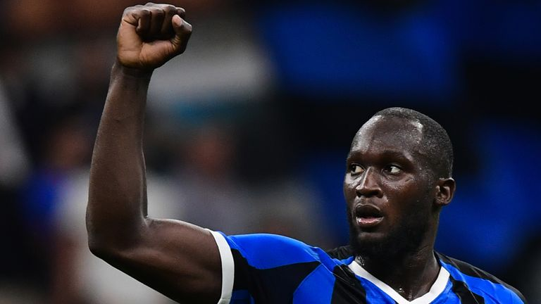 Lukaku scores on debut as Inter rout Lecce
